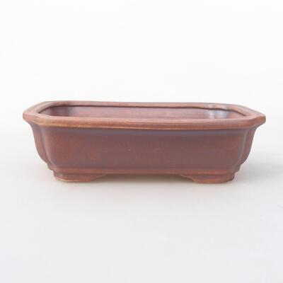 Ceramiczna miska bonsai 17 x 13 x 4,5 cm, kolor szary - 1