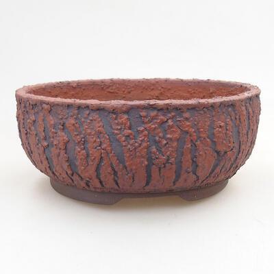Ceramiczna miska bonsai 18 x 18 x 7 cm, kolor spękany - 1