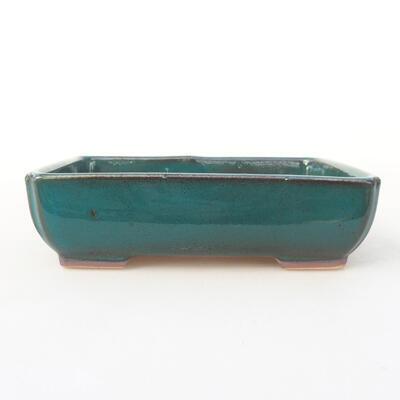 Ceramiczna miska bonsai 14 x 10,5 x 3,5 cm, kolor zielony - 1