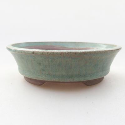 Ceramiczna miska bonsai 9,5 x 9,5 x 2,5 cm, kolor zielony - 1