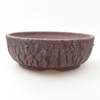 Ceramiczna miska bonsai 21 x 21 x 7 cm, kolor spękany - 1