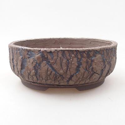 Ceramiczna miska bonsai 18,5 x 18,5 x 7 cm, kolor spękany - 1