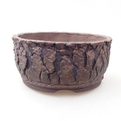 Ceramiczna miska bonsai 17 x 17 x 8 cm, kolor spękany - 1