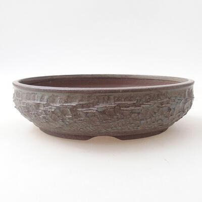 Ceramiczna miska bonsai 23,5 x 23,5 x 6 cm, kolor niebieski - 1