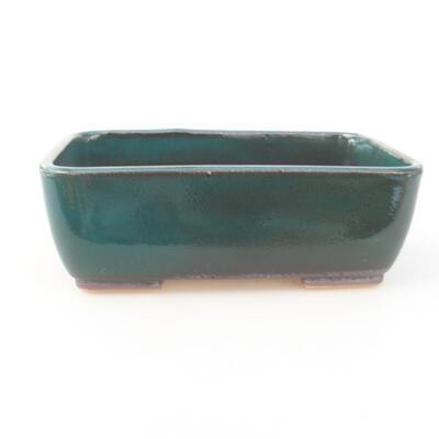 Ceramiczna miska bonsai 15,5 x 10 x 4 cm, kolor zielony - 1