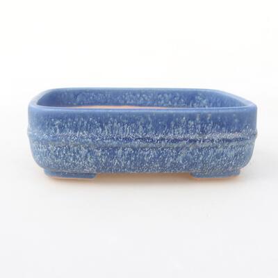 Ceramiczna miska bonsai 14 x 12 x 4 cm, kolor niebieski - 1