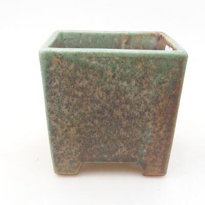 Ceramiczna miska bonsai 8,5 x 8,5 x 8,5 cm, kolor zielony - 1