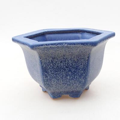 Ceramiczna miska bonsai 12 x 10,5 x 7,5 cm, kolor niebieski - 1