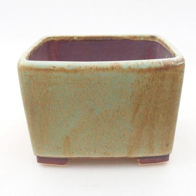 Ceramiczna miska bonsai 10 x 10 x 7 cm, kolor zielony - 1