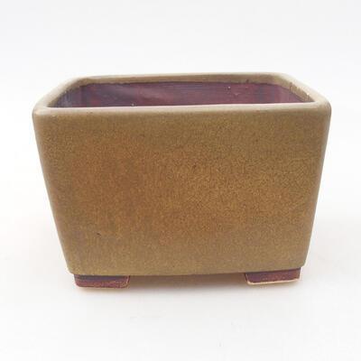 Ceramiczna miska bonsai 10 x 10 x 7 cm, kolor brązowy - 1