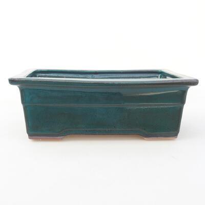 Ceramiczna miska bonsai 20 x 14,5 x 7 cm, kolor zielony - 1