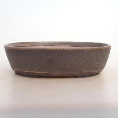 Miska Bonsai 26 x 20 x 7,5 cm, kolor brązowy - 1