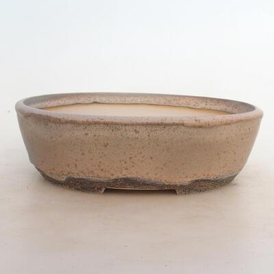 Miska Bonsai 24 x 19 x 7,5 cm, kolor szaro-beżowy - 1