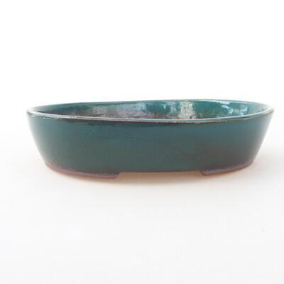 Ceramiczna miska bonsai 17 x 14 x 3,5 cm, kolor zielony - 1