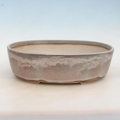 Miska Bonsai 37 x 28 x 10,5 cm, kolor szaro-beżowy - 1
