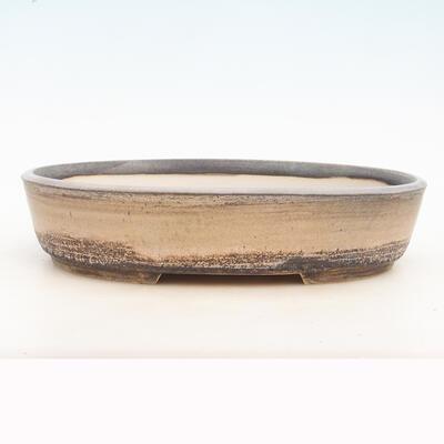 Miska Bonsai 33 x 25 x 7 cm, kolor szaro-beżowy - 1