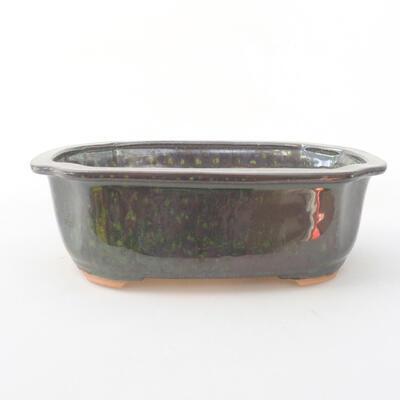 Ceramiczna miska bonsai 21 x 16,5 x 7 cm, kolor zielony - 1
