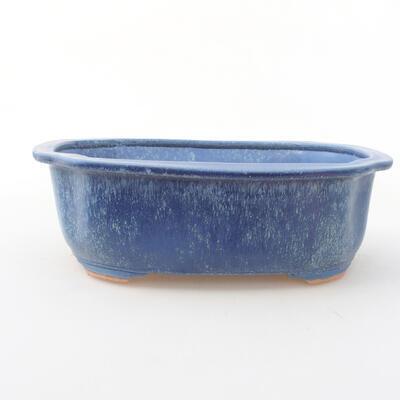 Ceramiczna miska bonsai 21 x 16,5 x 7 cm, kolor niebieski - 1