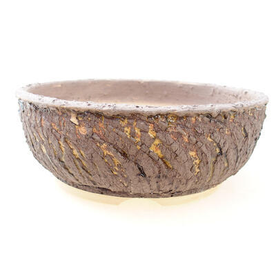 Ceramiczna miska bonsai 20 x 20 x 7 cm, kolor pęknięcia żółty - 1