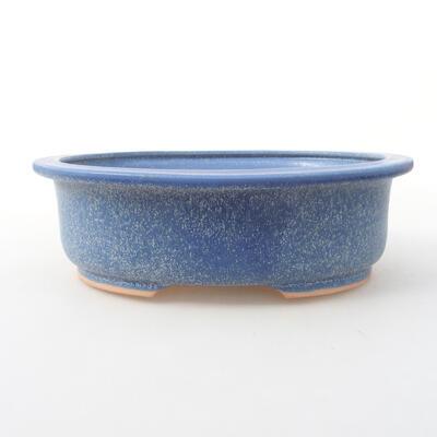 Ceramiczna miska bonsai 24 x 20 x 8 cm, kolor niebieski - 1