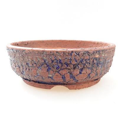 Ceramiczna miska bonsai 20,5 x 20,5 x 7 cm, kolor szaro-niebieski - 1