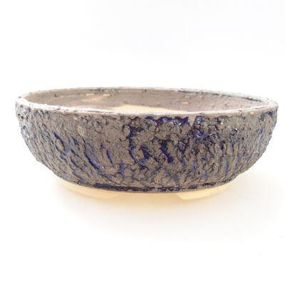 Ceramiczna miska bonsai 19,5 x 19,5 x 6,5 cm, kolor szaro-niebieski - 1