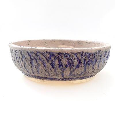 Ceramiczna miska bonsai 22 x 22 x 7 cm, kolor szaro-niebieski - 1