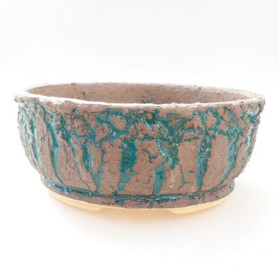 Ceramiczna miska bonsai 18 x 18 x 7,5 cm, kolor szaro-zielony - 1
