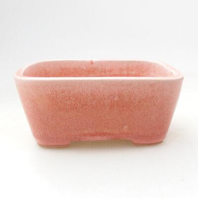 Ceramiczna miska bonsai 12 x 8,5 x 5,5 cm, kolor różowy - 1