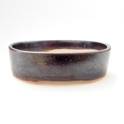 Ceramiczna miska bonsai 11,5 x 9 x 3,5 cm, kolor metalowy - 1