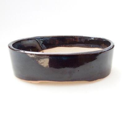 Ceramiczna miska bonsai 11,5 x 9,5 x 3,5 cm, kolor czarny - 1