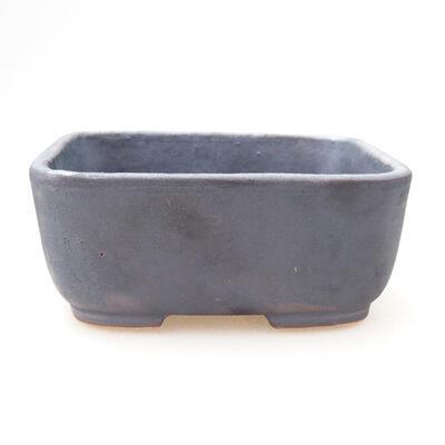 Ceramiczna miska bonsai 11 x 8 x 5 cm, kolor metalowy - 1