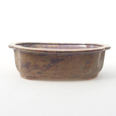 Ceramiczna miska bonsai 23 x 20 x 7 cm, kolor brązowo-zielony - 1