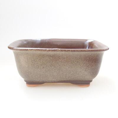 Ceramiczna miska bonsai 12 x 9 x 5,5 cm, kolor brązowy - 1