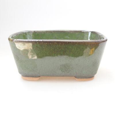 Ceramiczna miska bonsai 13 x 10 x 6 cm, kolor zielony - 1