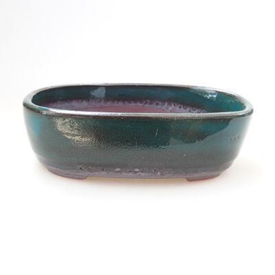 Ceramiczna miska bonsai 12 x 7,5 x 4 cm, kolor zielony - 1
