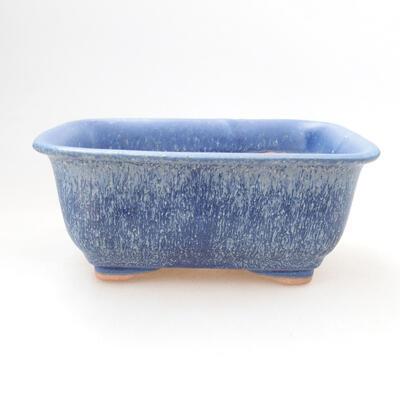 Ceramiczna miska bonsai 12,5 x 9,5 x 6 cm, kolor niebieski - 1