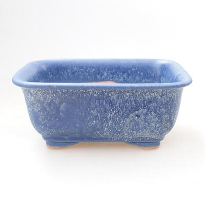 Ceramiczna miska bonsai 12 x 9 x 6 cm, kolor niebieski - 1