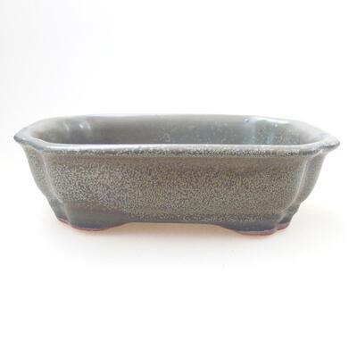 Ceramiczna miska bonsai 14 x 11 x 4,5 cm, kolor zielony - 1