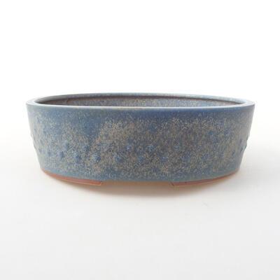 Ceramiczna miska bonsai 23 x 23 x 7 cm, kolor niebieski - 1