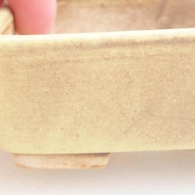Ceramiczna miska bonsai 9,5 x 8 x 3,5 cm, kolor żółty - 1