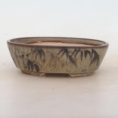 Miska Bonsai 17 x 12 x 5 cm, kolor brązowo-szary - 1