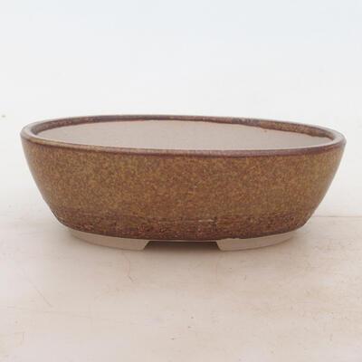Miska Bonsai 16 x 11 x 5 cm, kolor brązowy - 1
