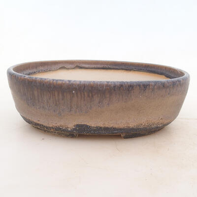 Miska Bonsai 20 x 15 x 6 cm, kolor szary - 1