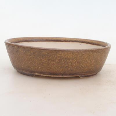 Miska Bonsai 19 x 15 x 5 cm, kolor brązowy - 1