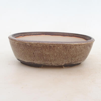 Miska Bonsai 19 x 13,5 x 6 cm, kolor brązowo-szary - 1