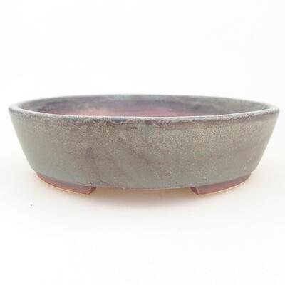 Ceramiczna miska bonsai 14 x 13 x 3,5 cm, kolor szary - 1