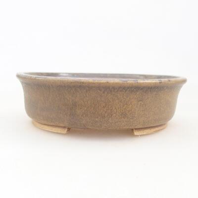 Ceramiczna miska bonsai 12 x 11 x 3 cm, kolor brązowy - 1