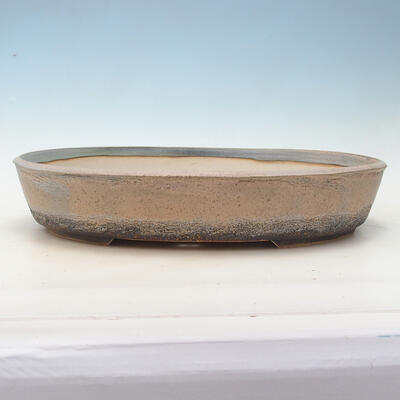 Miska Bonsai 44,5 x 35,5 x 8,5 cm, kolor beżowo-szary - 1