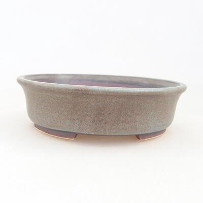 Ceramiczna miska bonsai 12 x 11 x 3 cm, kolor brązowo-niebieski - 1